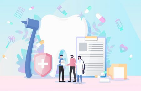 illustration of dental care